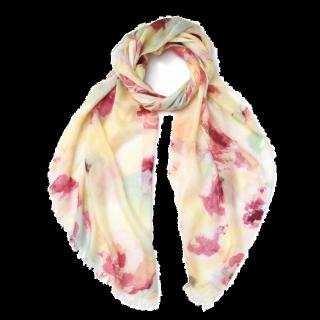 このコーデで使われているNATURAL BEAUTY BASICのスカーフ[ホワイト/ピンク/イエロー]