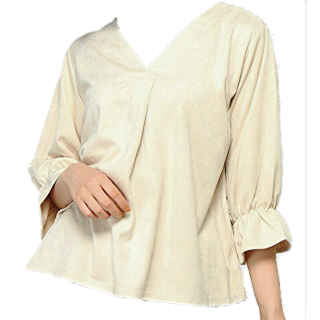 このコーデで使われているINGNIのシャツ/ブラウス[ベージュ]