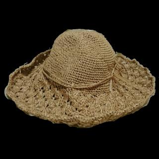 このコーデで使われている手作りの帽子[ベージュ/キャメル]