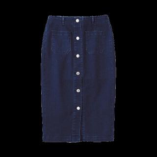 このコーデで使われているGUのタイトスカート[ネイビー]