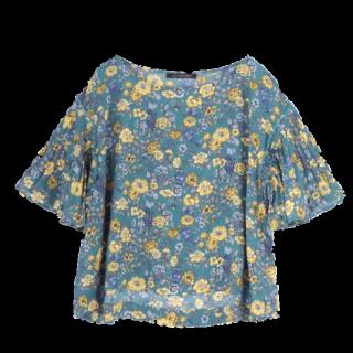 このコーデで使われているPAGEBOYのシャツ/ブラウス[ネイビー/イエロー/ブルー]