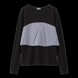 このコーデで使われているGUのTシャツ/カットソー[ブラック]