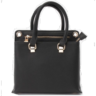 このコーデで使われているPLAIN CLOTHINGのハンドバッグ[ブラック]