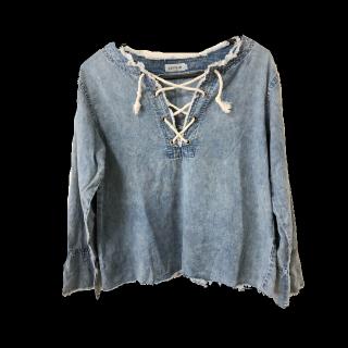 このコーデで使われているLEPSIMのシャツ/ブラウス[ブルー]