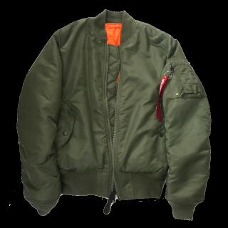 ALPHAのミリタリージャケット