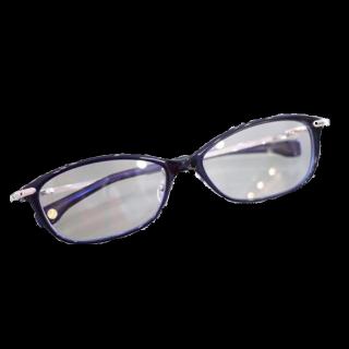 このコーデで使われている999.9のメガネ[ブルー/シルバー]