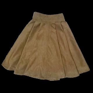 このコーデで使われている手作りのスカート[ブラウン/キャメル]