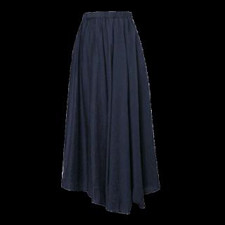 このコーデで使われているRe:EDITのマキシ丈スカート[ネイビー]