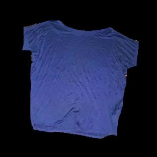 このコーデで使われているGUのTシャツ/カットソー[ネイビー]