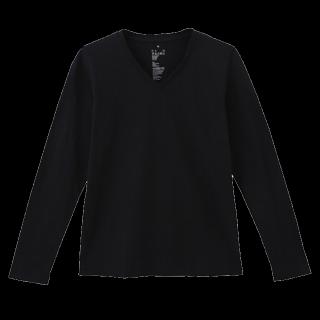 このコーデで使われているMUJI(無印良品)のTシャツ/カットソー[ブラック]