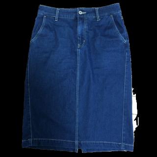 このコーデで使われているGLOBAL WORKのひざ丈スカート[ネイビー]