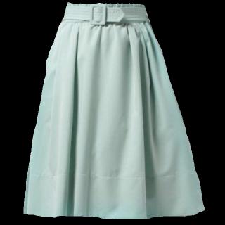 このコーデで使われているWILLSELECTIONのミモレ丈スカート[グリーン]