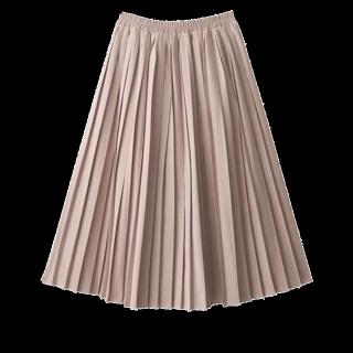 このコーデで使われているGRLのプリーツスカート[ピンク/ベージュ]