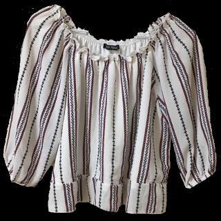 このコーデで使われているSpRayのTシャツ/カットソー[ホワイト/レッド/ブルー]