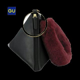 このコーデで使われているGUのハンドバッグ[ブラック/その他]
