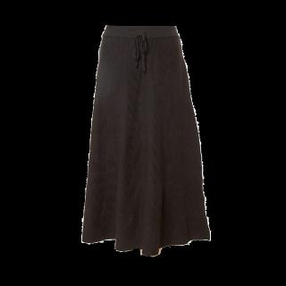 このコーデで使われているFIFTHのミモレ丈スカート[ブラック]