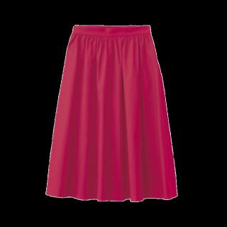 このコーデで使われているGUのひざ丈スカート[ピンク]