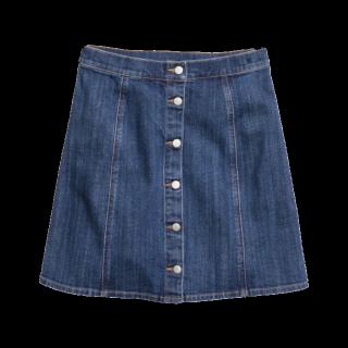 このコーデで使われているH&Mのデニムスカート[ブルー]