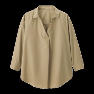このコーデで使われているGUのシャツ/ブラウス[ベージュ]
