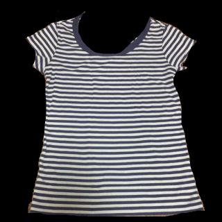 このコーデで使われているTシャツ/カットソー[ブルー/ホワイト]