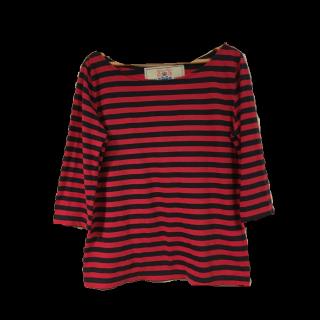 このコーデで使われているL'AppartementのTシャツ/カットソー[レッド/ネイビー]