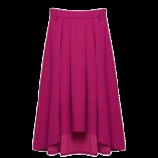 このコーデで使われているミモレ丈スカート[ピンク]
