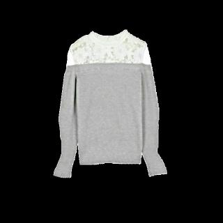 このコーデで使われているシャツ/ブラウス[ホワイト/グレー]