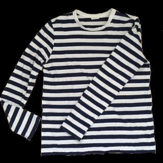 このコーデで使われているDES PRESのTシャツ/カットソー[ホワイト/ネイビー]