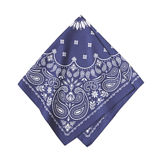 このコーデで使われているGUのスカーフ[ブルー]