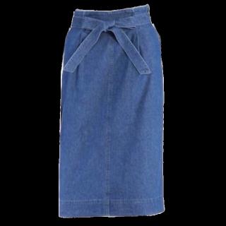 このコーデで使われているUNIQLOのデニムスカート[ブルー]