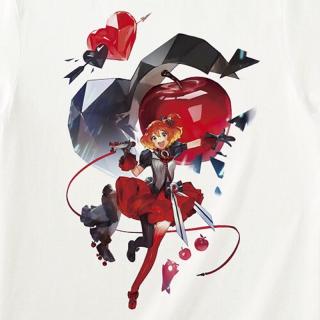 このコーデで使われているTシャツ/カットソー[レッド]