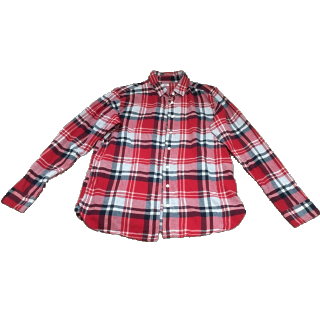 このコーデで使われているUNIQLOのシャツ/ブラウス[レッド/ホワイト/グレー/ネイビー]