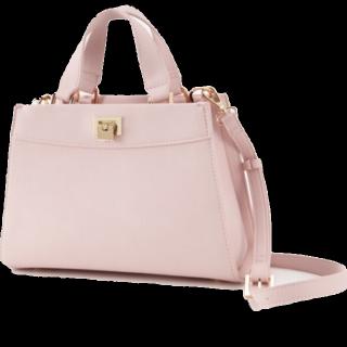 このコーデで使われているriendaのハンドバッグ[ピンク]