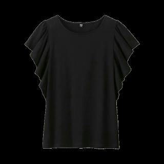 このコーデで使われているUNIQLOのTシャツ/カットソー[ブラック]