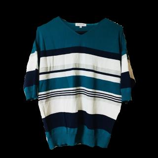 このコーデで使われているTシャツ/カットソー[ホワイト/グリーン/ネイビー]