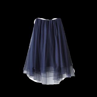 このコーデで使われているGRLのチュールスカート[ネイビー]