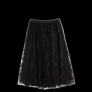 このコーデで使われているJILL by JILLSTUARTのひざ丈スカート[ブラック]