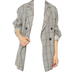 このコーデで使われているspick&spanのジャケット[グレー]