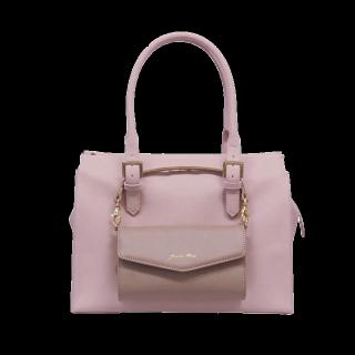 このコーデで使われているJewelna Roseのトートバッグ[ピンク/ベージュ]