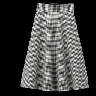 GUのミモレ丈スカート