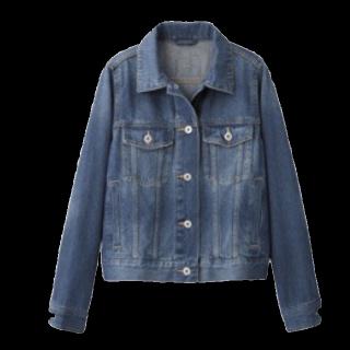 このコーデで使われているGUのデニムジャケット[ブルー]
