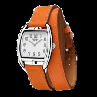 このコーデで使われているHERMESの腕時計[オレンジ]