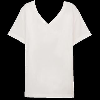 このコーデで使われているMUJI(無印良品)のTシャツ/カットソー[ホワイト]
