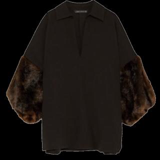 このコーデで使われているZARAのシャツ/ブラウス[ブラック]
