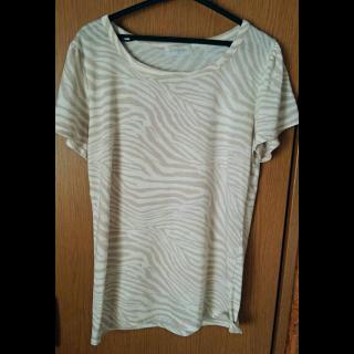 このコーデで使われているTシャツ/カットソー[ホワイト/ベージュ]