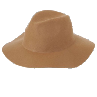 このコーデで使われているw closetの女優帽[ベージュ/キャメル]