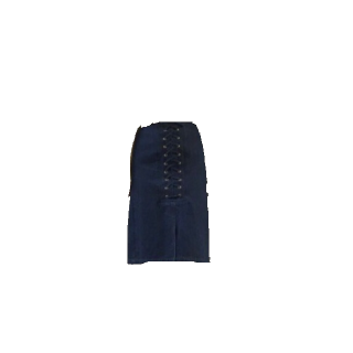 このコーデで使われているmysticのひざ丈スカート[ネイビー]