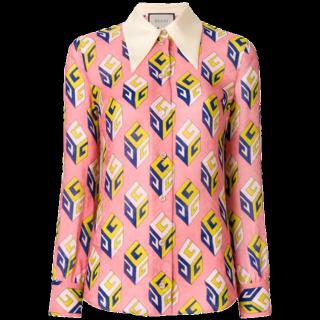 このコーデで使われているGUCCIのシャツ/ブラウス[ピンク]