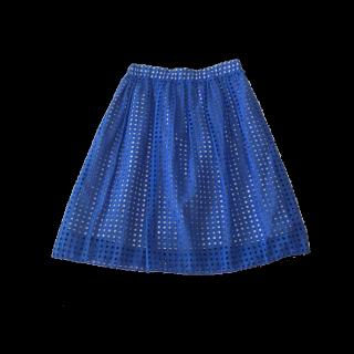 このコーデで使われているひざ丈スカート[ブルー]