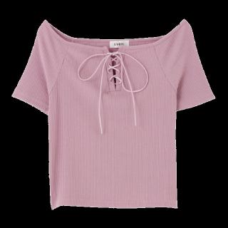 このコーデで使われているEVRISのTシャツ/カットソー[ピンク]